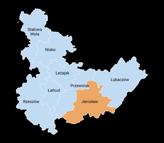 mapa jaroslaw