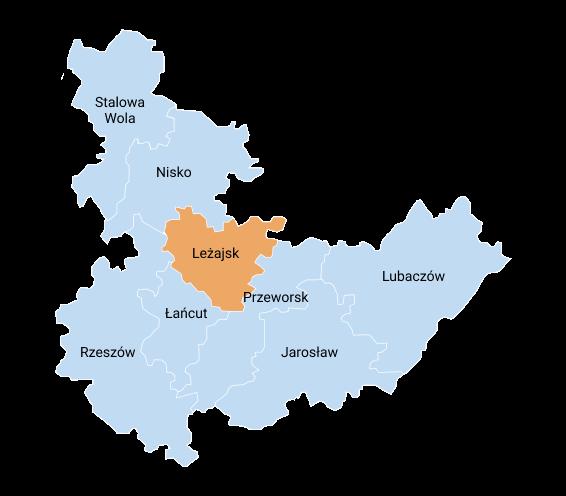 mapa lezajsk