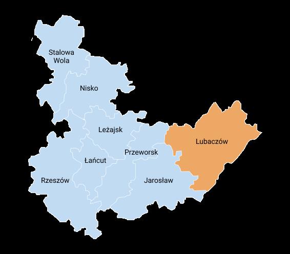 mapa lubaczow