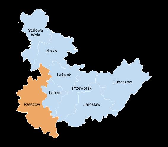 mapa rzeszow